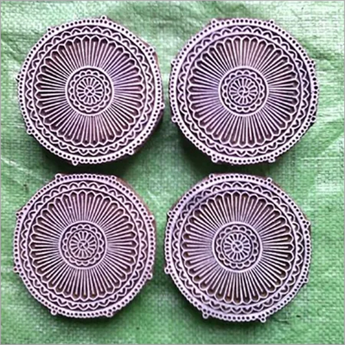 Wooden Carved Stamps Mandala Design For Fabric Printing
