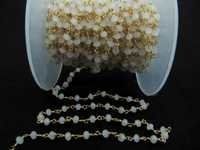 White chalcedony Beaded Chain