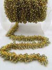 Smokey Quartz Glass beads metal chains