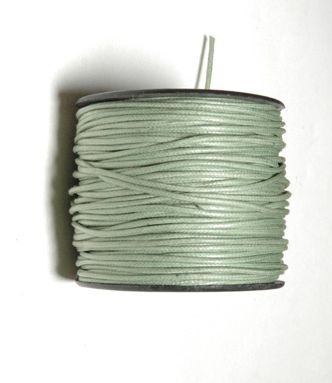 2 mm cotton wax cord ,color AQUATTIN