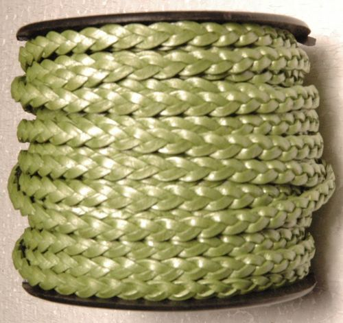 3ply3 mm flat braided leather cord