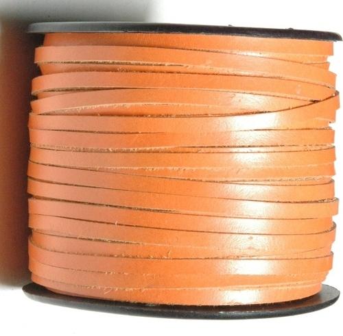 Plain Flat Folded Leather Cords