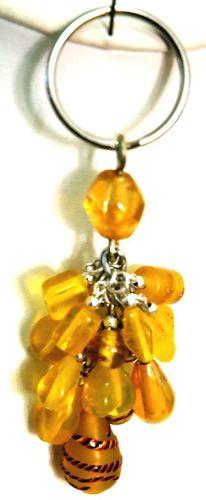 Yellow Crystal Keychain