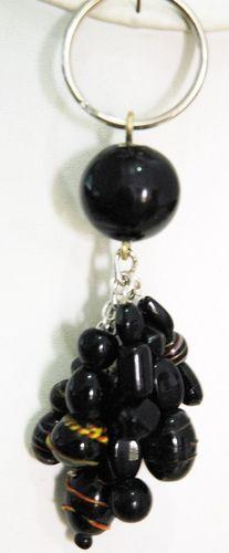 Black Crystal Keychain