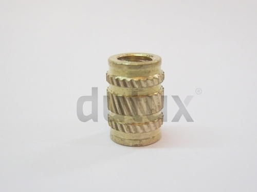 Straight Ultrasonic Brass Inserts for Acrylic