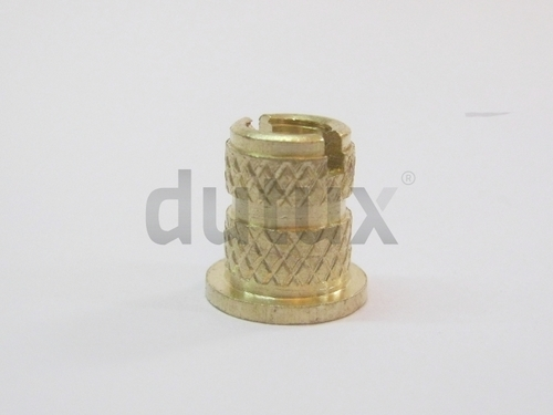 Slotted Head Brass Knurled Insert Lock Nut