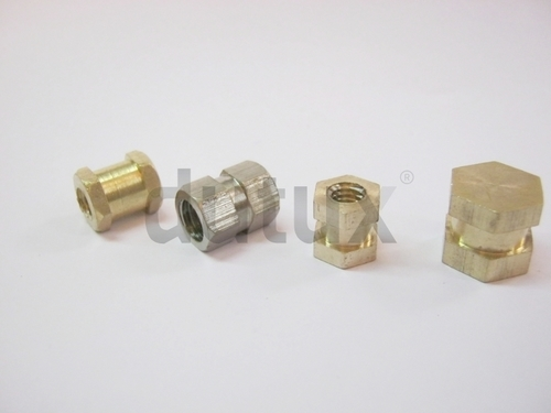 Double Hex Brass Inserts