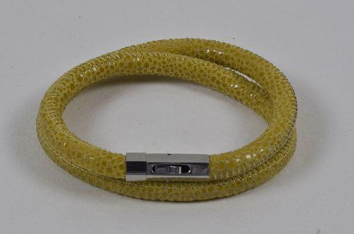 Snake leather bracelets