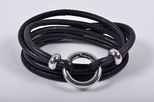 Braided Black Leather Bracelet