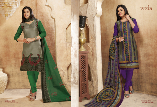 Cotton Embriodered Salwar Kameez