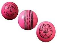 APG Pink Leather Cricket Ball (SUPERTEST)