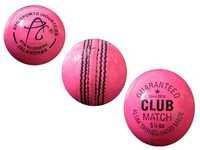 APG Leather Pink Cricket Ball Made up of Leather