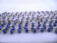 Natural Tanzanite Faceted Beads Chain