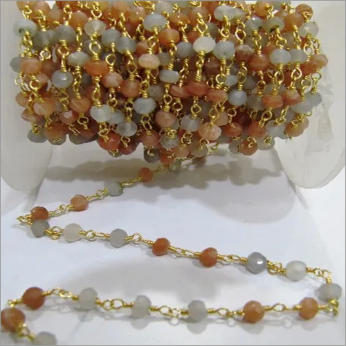 Multi Moonstone Gemstones Chain