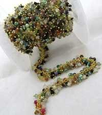 Multi color Semi Precious beads Dangling chain