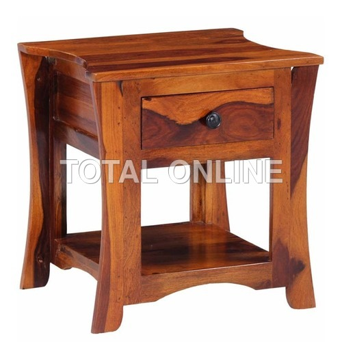 Attractive Wooden Bedside Table