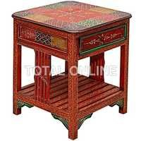 Wooden Handmade Side Table With Drawer