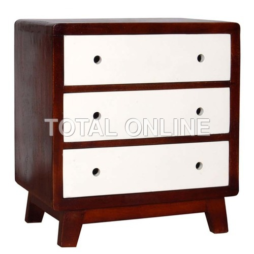 Distinct Wooden Colorful Bedside Table