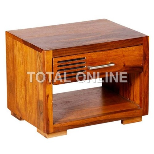 Eye-Feasting Wooden Bedside Table