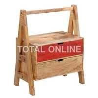 Jhoola Style Wooden Colorful Bedside Table