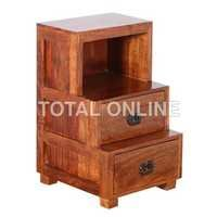 Stair Style Wooden Bedside Table