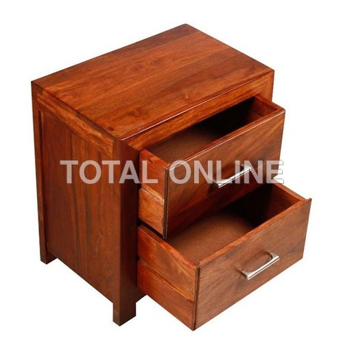 Stupendous Wooden Bedside Table