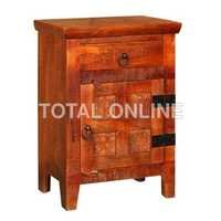 Wooden Bedside Table With Block Design