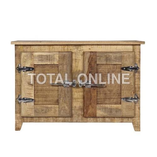 Antique look Rustic Ice Box Dresser with 2 Doors