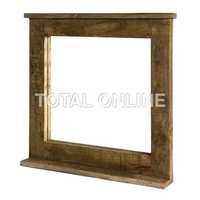 Antique look Rustic Ice Box Mirror Frame