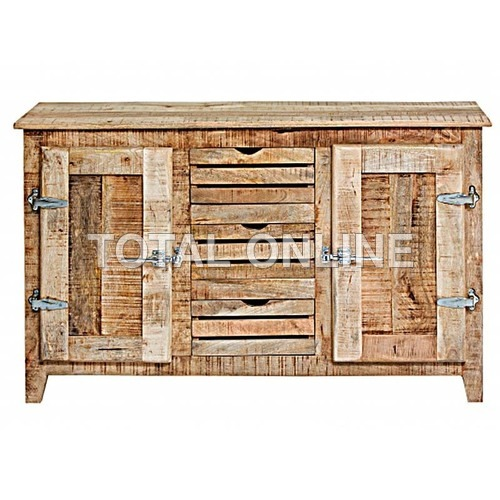 Antique look Rustic Ice Box Side Board with 3 Draw