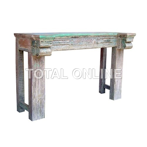 Elegant Side Table With Carvings