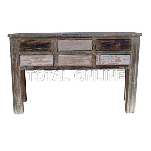 Exquisite Side Table With Carvings