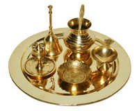 Brass Pooja Thali for Festival and Diwali Gift Puja item