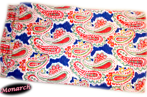 5 YARDS MIX PAISLEY PATTERN HAND BLOCK PRINTED HANDMADE 100% COTTON FABRIC