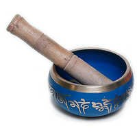Bronze Singing Bowl - Blue