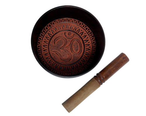Aluminum Tibetan Singing Bowl -Om