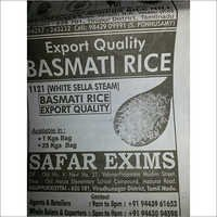 1121 White Sella Steam Basmati Rice
