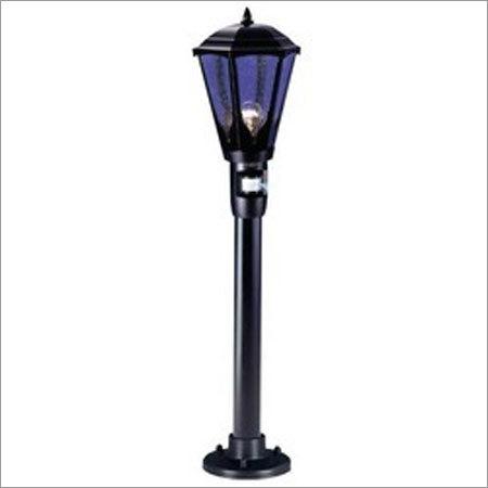 Black Floor Mounted Bollard Light