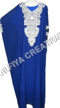 Heavy crystal work arabic farasha kaftan