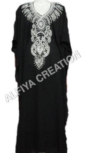 Regular wear silver embrodiery kaftan farasha