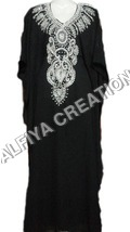 Regular wear silver embrodiery kaftan farasha