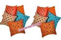 Wedding Jaipuri Mirror Cushion Cover