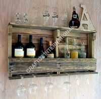 Wooden Bar Rack