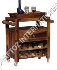 Wooden Bar Trolley