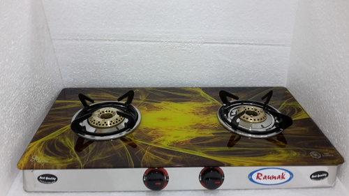 Biogas Two Burner Glass Top