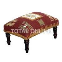 Classy Stool With Bright Color Upholstery
