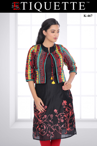 Jacket Kurti Manufacturer Ladies Trendy Jacket Kurtis Supplier In India