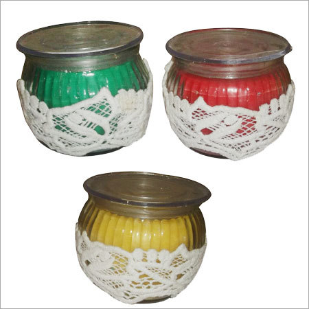 Colorful Jar Candle
