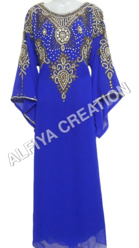 Beautiful arabic fany sleeves wedding wear kaftan