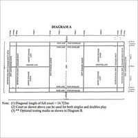 Badminton Court Diagram
